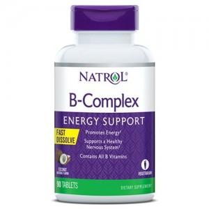 Natrol B-Complex Fast Dissolve, 90 таблеток