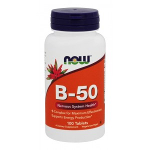B Комплекс (Now B-50 Complex) Витамины группы Б, 100 капсул