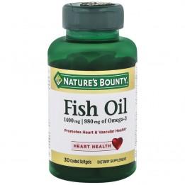 Купить Рыбий жир Nature's Bounty Fish Oil 1400 mg, 30 капсул фото