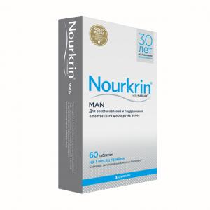 Витамины для восстановления волос Нуркрин для мужчин, 60 таб
