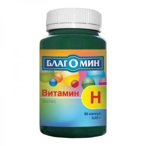 Биотин Благомин Витамин H 150 мкг, 90 капсул
