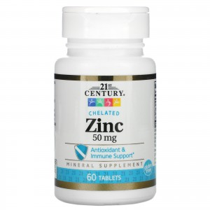 21st Century цинк 50 мг, 60 таблеток