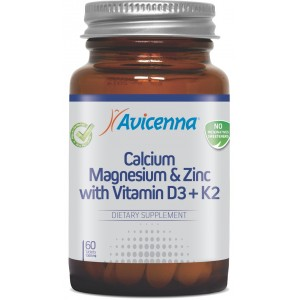 Кальций, Магний, Цинк, D3 и K2, Авиценна, 60 таблеток