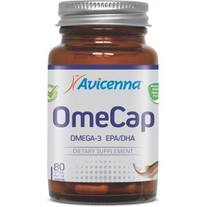 Омега-3 Рыбий жир с витамином E, Авиценна OmeCap, 80 капсул