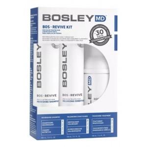 Система от выпадения и для стимуляции роста волос Bosley MD для неокрашенных волос (шампунь, кондиционер, уход)