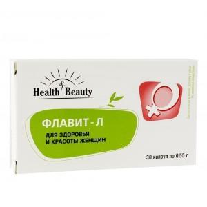 """Флавит-Л – для здоровья и красоты женщин, """"Health & Beauty"""", 30 капсул"""