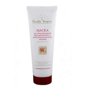 """Маска несмываемая для предотвращения выпадения волос и укрепления волосяных луковиц, """"Health & Beauty"""", 125 мл"""