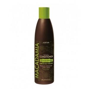 Интенсивно увлажняющий кондиционер для нормальных и поврежденных волос Macadamia, Kativa, 250 мл