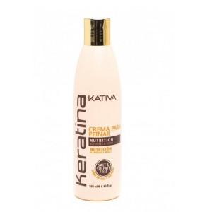 Укрепляющий шампунь с кератином для всех типов волос Keratina, Kativa, 250 мл