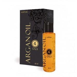 """Восстанавливающий защитный концентрат для волос """"4 масла"""" ARGAN OIL, Kativa, 60 мл"""
