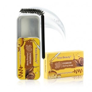 Мыло для укладки бровей с Муцином улитки Kiss Beauty 3D Brow Styling Soap, 10г
