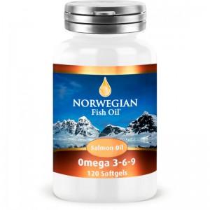NFO Омега-3 Масло лосося, 120 капсул