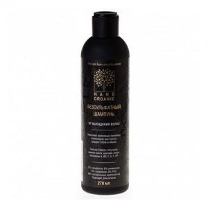 Бессульфатный шампунь от выпадения волос Nano Organic, 270 мл