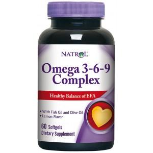 Natrol Omega 3-6-9 Complex 60 капсул