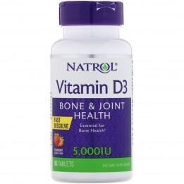 Купить Natrol Vitamin D3 5000 IU F/D 90 таблеток фото