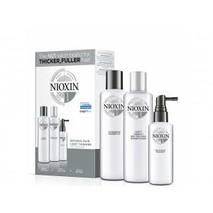 Набор Система 1 Nioxin для натуральных волос с тенденцией к истончению (шампунь, кондиционер, маска)