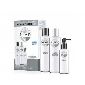 Набор Система 1 Nioxin XXL для натуральных волос с тенденцией к истончению (шампунь, кондиционер, маска)