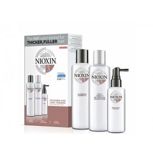 Набор Система 3 Nioxin для окрашенных волос с тенденцией к истончению (шампунь, кондиционер, маска)