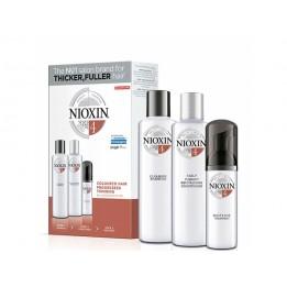 Купить Набор Система 4 Nioxin XXL для окрашенных истонченных волос (шампунь, кондиционер, маска) фото