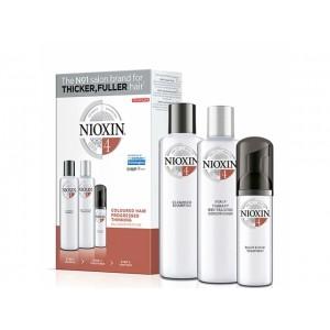 Набор Система 4 Nioxin XXL для окрашенных истонченных волос (шампунь, кондиционер, маска)