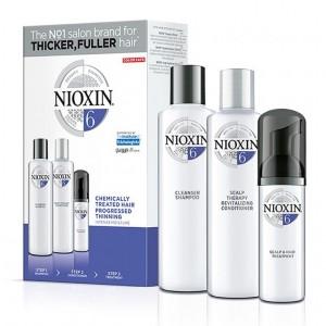 Набор Система 6 Nioxin для химически обработанных истонченных волос (шампунь, кондиционер, маска)