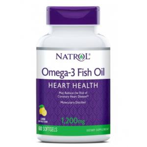 Natrol Омега-3 рыбий жир 1200 мг капсулы, 60 шт