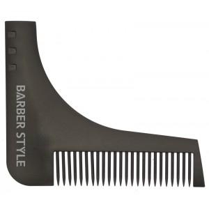 Расческа для бороды, черная, 9,5х11 см