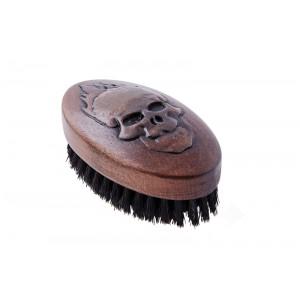 Щетка для укладки бороды, натуральная щетина, 9-рядная