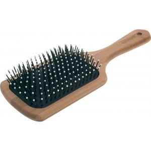 Щетка массажная лопата деревянная, пластиковый штифт, с плоской ручкой