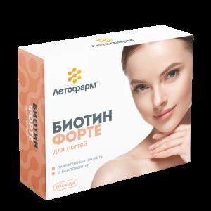 Биотин Форте 60 капсул, ЛетоФарм