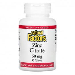 Купить Цитрат цинка Natural Factors, 90 таблеток фото