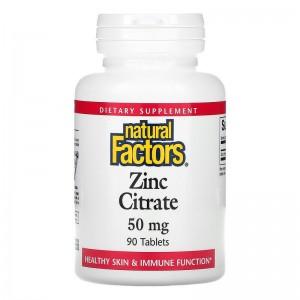 Цитрат цинка Natural Factors, 90 таблеток