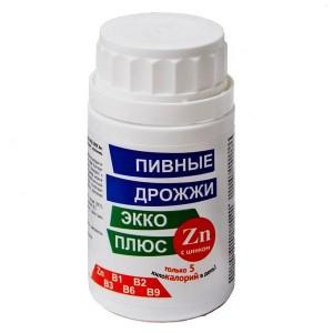 Пивные дрожжи с цинком 100 таблеток, Экко Плюс
