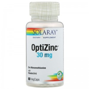 Цинк OptiZinc Solaray, 60 капсул