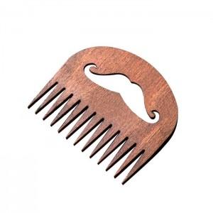 """Расческа деревянная для бороды и усов """"Усы"""", тип 2"""
