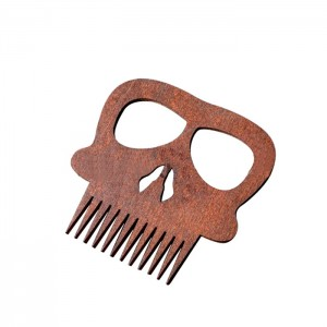 """Расческа деревянная для бороды и усов """"Череп"""""""