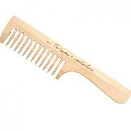 Купить Расчёска гребешок, цвет «светлое дерево» широкий зубец фото