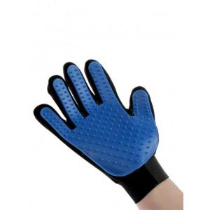 Массажная рукавица на правую руку из неопрена с удлиненными зубчиками