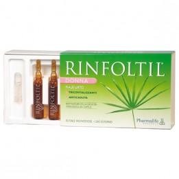 Купить Ринфолтил ампулы для женщин усиленная формула против выпадения волос (зеленая серия), 10 ампул фото