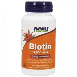 Биотин 5000 мкг, 60 капсул