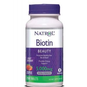 Natrol Биотин 5,000 мкг, 250 таблеток