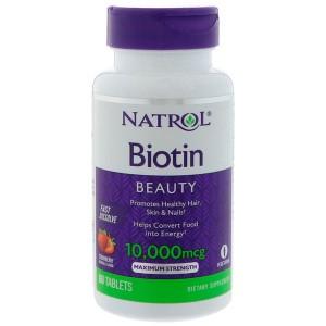 Natrol Биотин 10,000 мкг, 60 таблеток